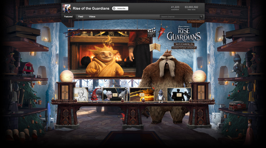 Rise of the Guardians YouTube Takeover